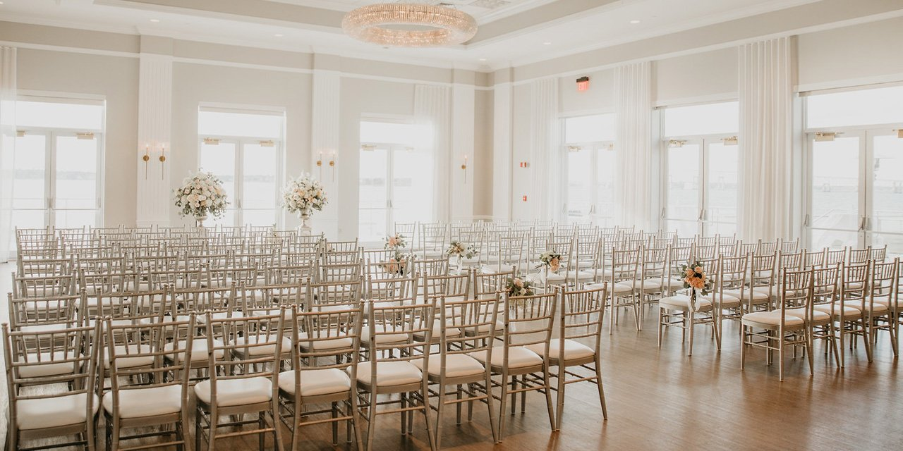 chairs in a ballroom