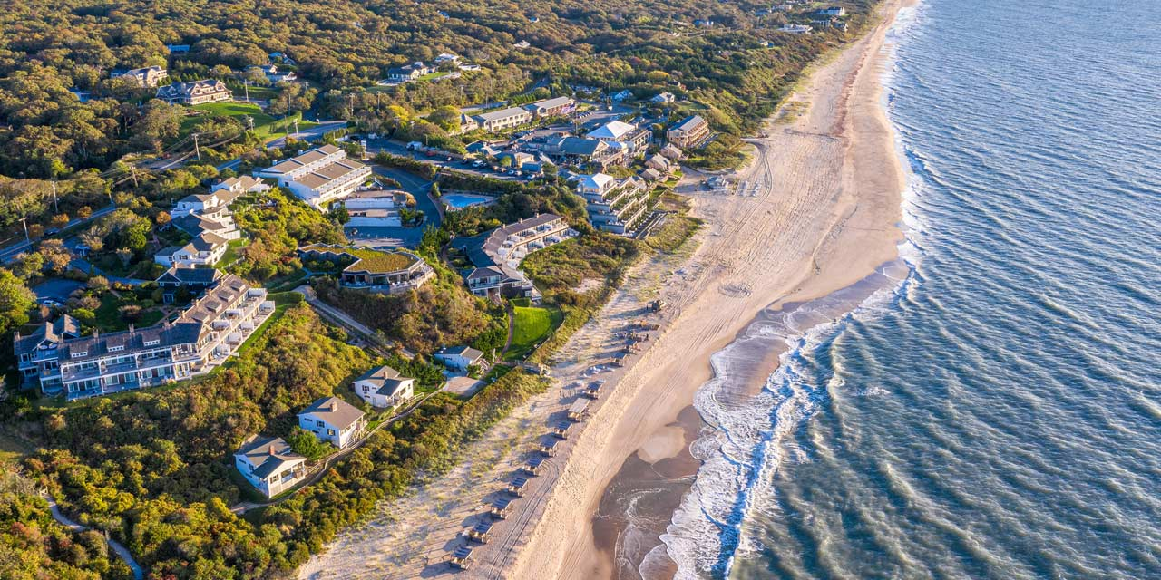 aerial view of Gurney's Resort in Montauk