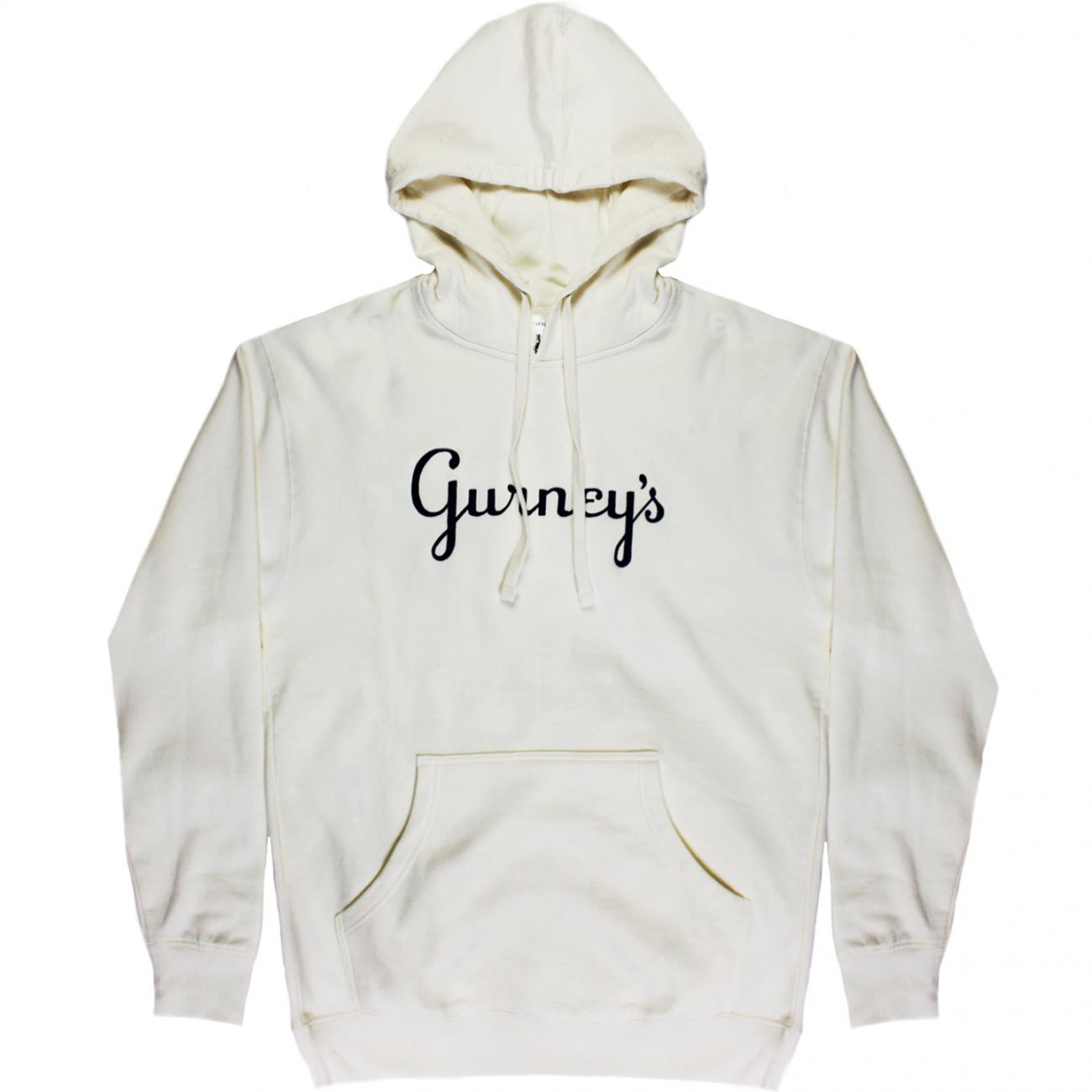 Gurney's Hoodie embroidered across chest front bone