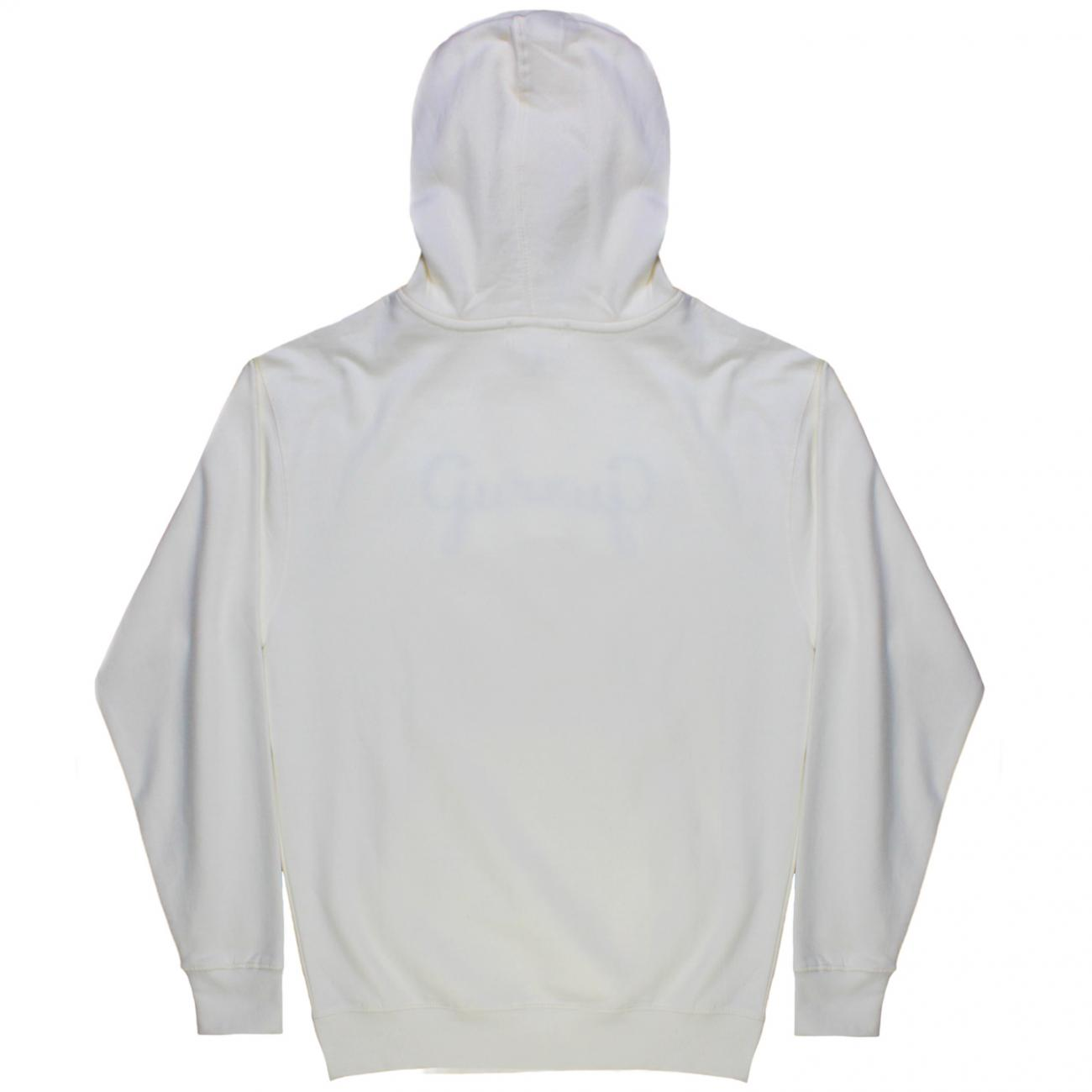 Gurney's Hoodie embroidered across chest back bone