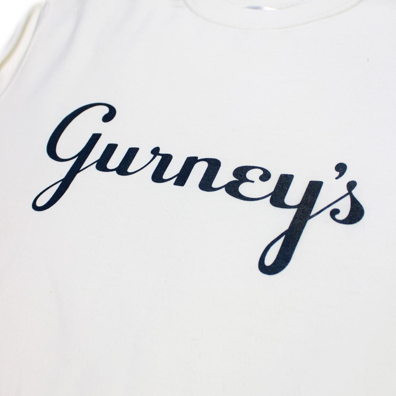 Gurney's Screened across chest Logo white