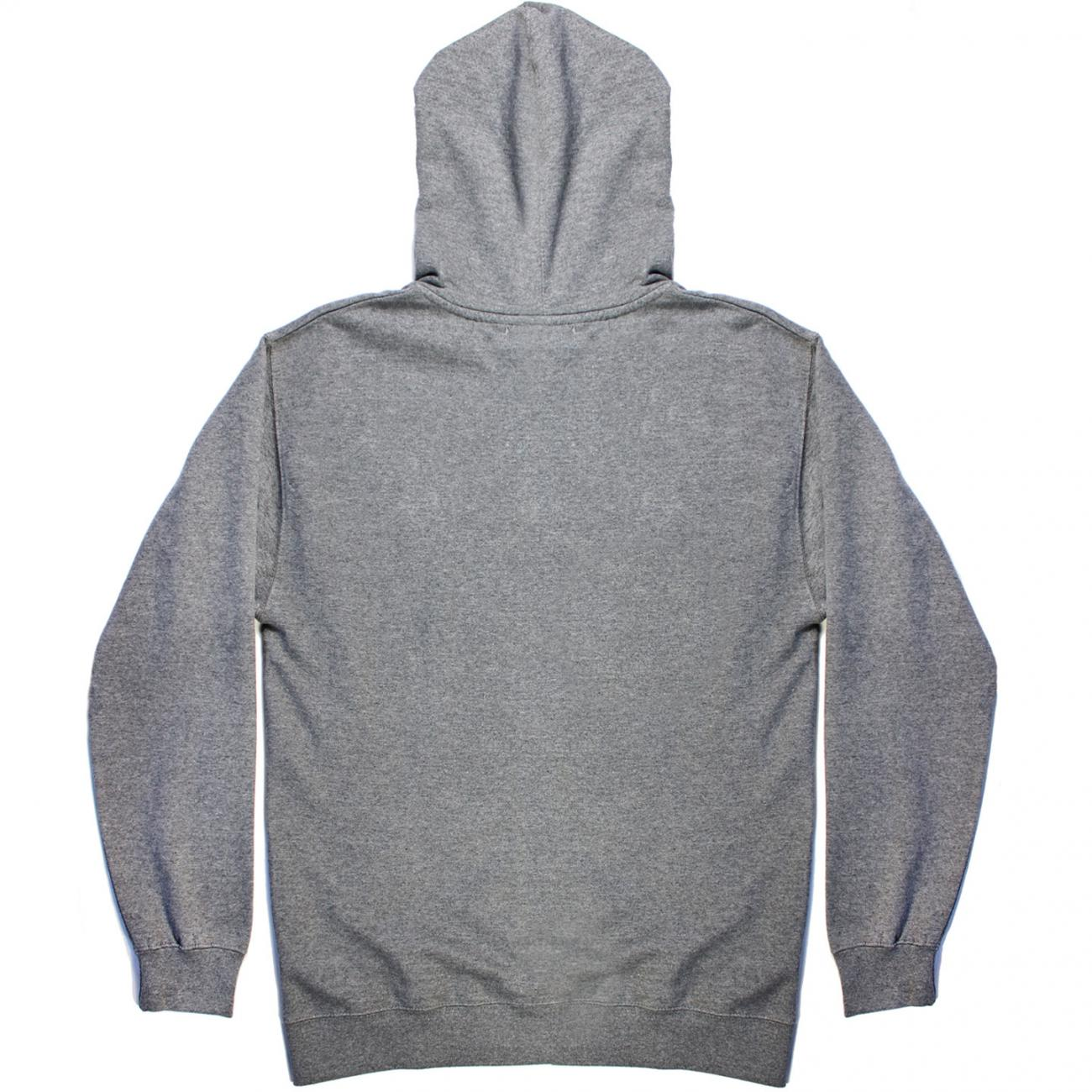 Gurney's Hoodie screened across chest back charcoal