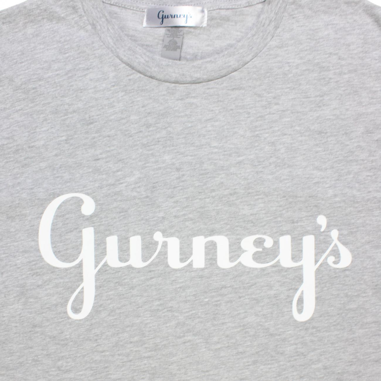 Gurney's T-shirt Screened across chest grey
