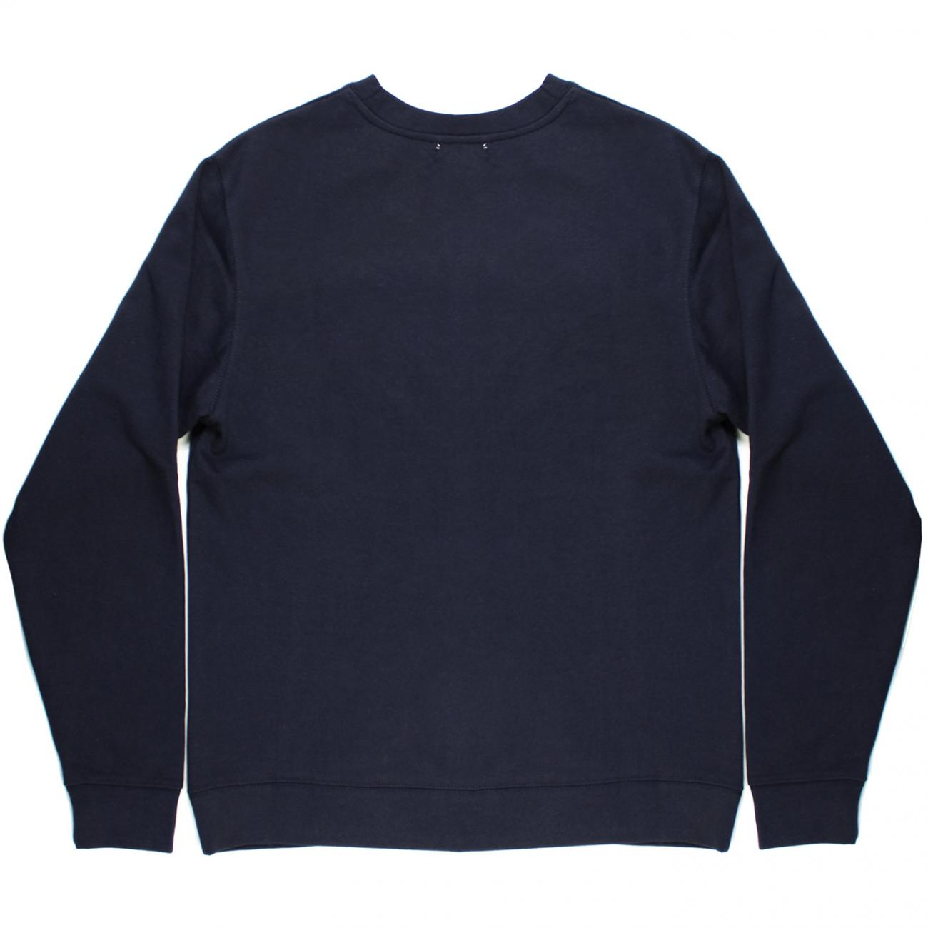 Gurney's Wave screened across chest back navy