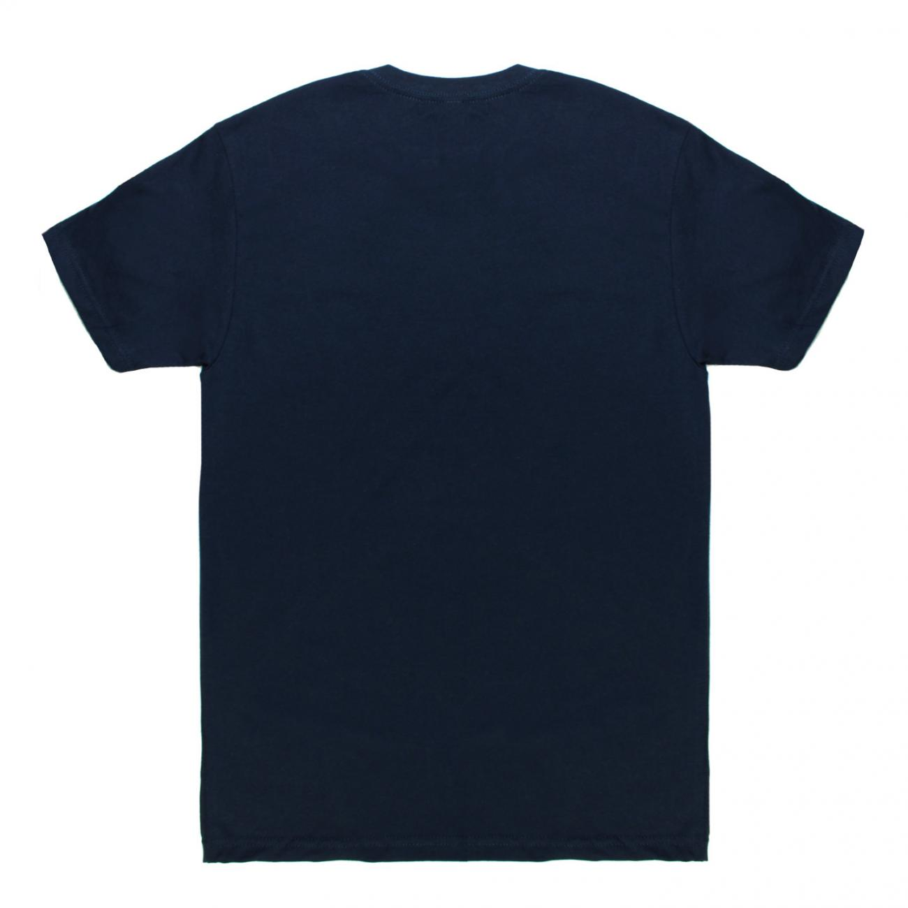 Gurney's T-shirt Wave screened across chest back navy